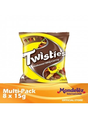 Twisties Kaboom Barbecue Curry [Multi-Pack 8 x 15g] [Essential]