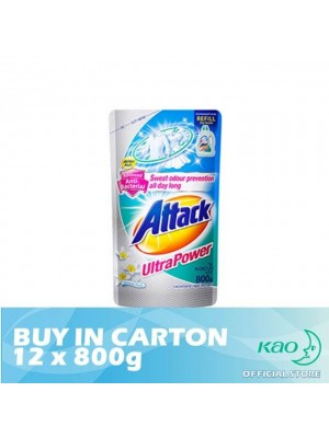 Attack Liquid Detergent Ultra Power (LATK) 12 x 800g