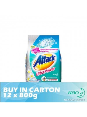 Attack Powder Detergent Concentrate Ultra Power (ATK) 12 x 800g