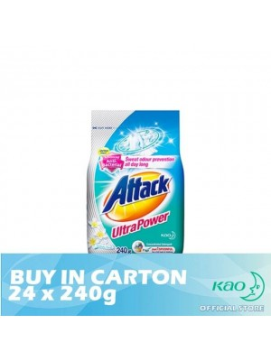 Attack Powder Detergent Concentrate Ultra Power (ATK) 24 x 240g