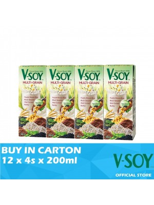 V-Soy Multi-grain Soya Bean Milk UHT 12 x 4s x 200ml
