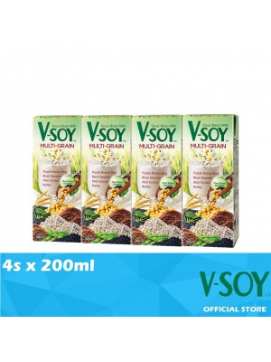V-Soy Multi-grain Soya Bean Milk UHT 4 x 200ml (EXP : 10/2021) [MUST BUY]