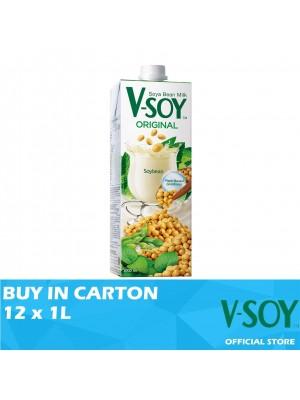 V-Soy Original Soya Bean Milk UHT 12 x 1L