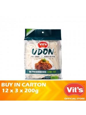 Vits Fresh Udon 12 x (3 x 200g) 600g [Essential]