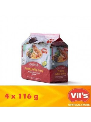Vits Penang White Curry Instant Noodles 4 x 116g [MUST BUY]