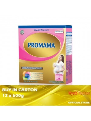 Wyeth Nutrition PROMAMA Milk Powder 12 x 600g
