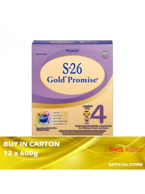 Wyeth S-26 Gold Promise Step 4 Milk Powder 12 x 600g