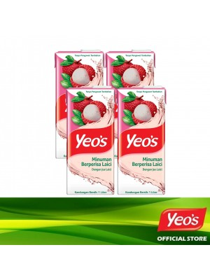 Yeo's Lychee Pack 4x1L
