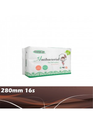 Young Girl Antibacterial Washable Pads Day 280mm 16s