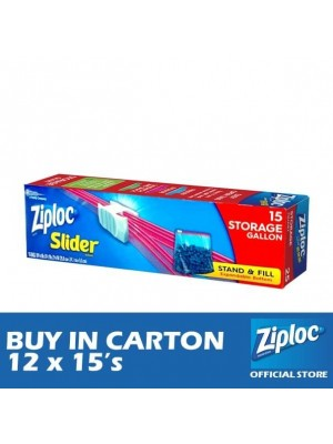 Ziploc EZ Zip Storage Gallon 12 x 15's