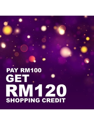 Potboy Shopping Credit - Pay RM 100 GET RM 120 Shopping Credit