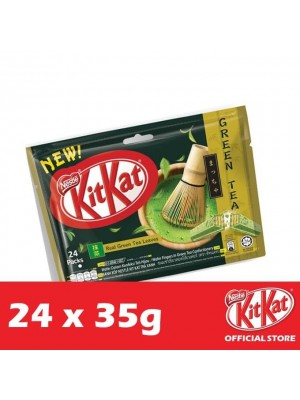 Nestle KitKat 4-Fingers Green Tea Flowrap 12 x 24 x 35g