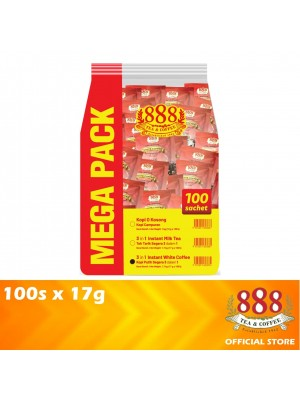 888 3 in 1 Instant White Coffee Value Pack 100s x 17g