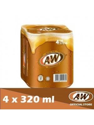 A&W Sarsaparilla 4 x 320ml