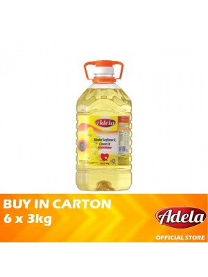 Adela Blended Sunflower & Canola Oil 6 x 3kg