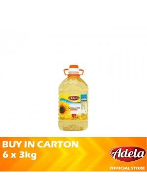 Adela Sunflower Oil 6 x 3kg