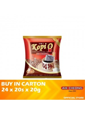 Aik Cheong Coffee O Bag 2 in 1 Sugar Added 24 x 20s x 20g