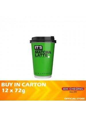 Aik Cheong It's Cup - It's Matcha Latte Nata De Coco 12 x 72g