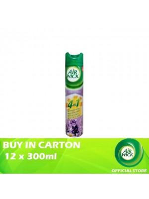 Air Wick 4 in 1 Air Freshener Aerosol Lavender Fields 12 x 300ml