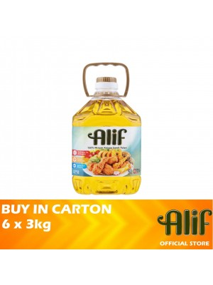 Alif Palm Cooking Oil 6 x 3kg