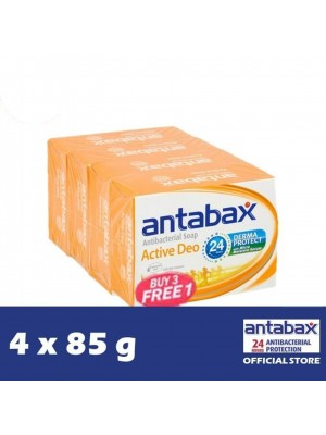 Antabax Anti-Bacterial Body Soap - Active Deo 4 x 85g