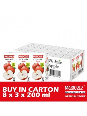 Marigold 100% Juice Apple 8 x 3 x 200ml