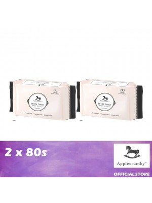 Applecrumby Extra Thick Baby Wipes 2 x 80's
