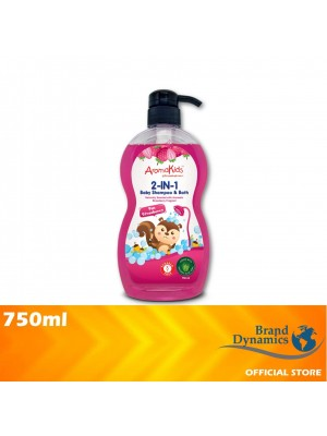AromaKids 2 in 1 Shampoo & Bath Fun Strawberry 750ml