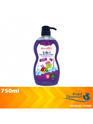 AromaKids 2 in 1 Shampoo & Bath Playful Dewberry 750ml