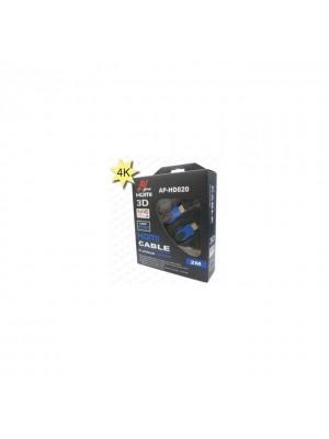 AV Pro AP-HD820(2M) 4K Black HDMI Cable