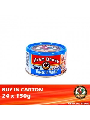 Ayam Brand Classic Light Tuna Flakes in Water 24 x 150g [Essential]