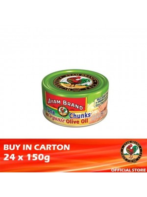 Ayam Brand Classic Tuna Chunks in Organic Olive Oil 24 x 150g