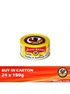 Ayam Brand Classic Tuna Chunks in Sunflower Oil 24 x 150g