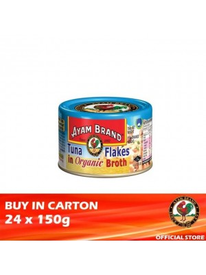 Ayam Brand Classic Tuna Flakes in Organic Broth 24 x 150g