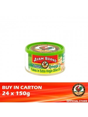 Ayam Brand Classic Tuna Flakes Omega-3 in Extra Virgin Olive Oil 24 x 150g [Essential]