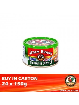Ayam Brand Classic Tuna Light Chunks in Olive Oil 24 x 150g