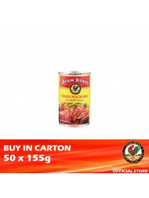 Ayam Brand Fried Mackerels in Chilli Sauce 50 x 155g [Essential]