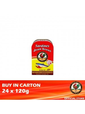 Ayam Brand Fried Sardine in Chilli Oil 24 x 120g [Essential]