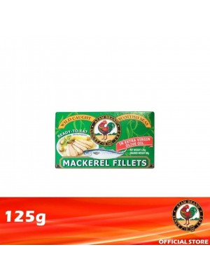 Ayam Brand Mackerel Fillets in Extra Virgin Olive Oil 125g [Essential]