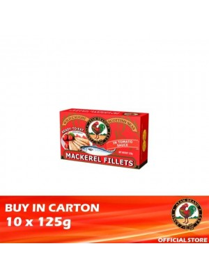 Ayam Brand Mackerel Fillets in Tomato Sauce 10 x 125g [Ready to Eat]