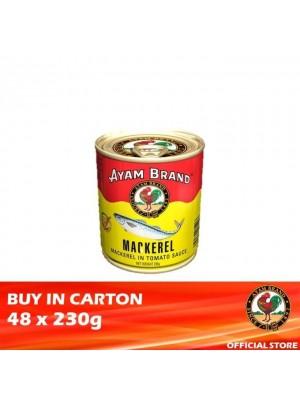 Ayam Brand Mackerels in Tomato Sauce - Buffet 48 x 230g