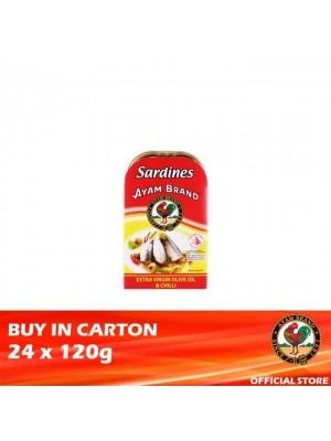 Ayam Brand Sardine Extra Virgin Olive Oil & Chilli 24 x 120g