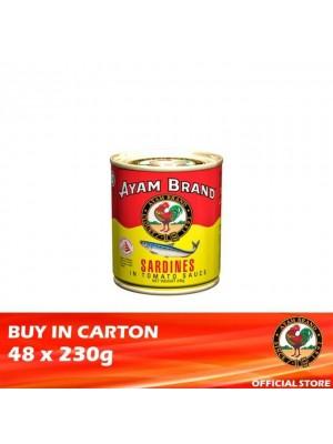 Ayam Brand Sardines in Tomato Sauce - Buffet 48 x 230g