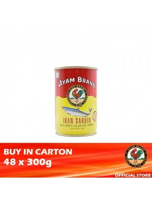 Ayam Brand Sardines in Tomato Sauce - Tower Cans 48 x 300g