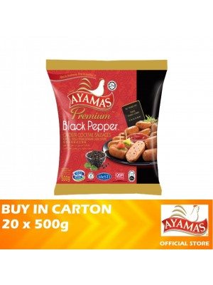 Ayamas Chicken Cocktail Black Pepper Sausages 20 x 500g