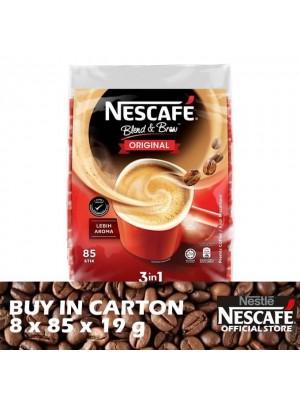 Nestle Nescafe Blend & Brew 3 in 1 Original Premix Coffee 8 x 85 x 19g
