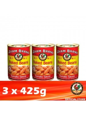 1E. Ayam Brand Baked Beans in Tomato Sauce - Tall  3 x 425g [Covid-19]