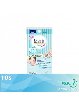 Biore Makeup Remover Wipes Travel Pack - Refresh 10's