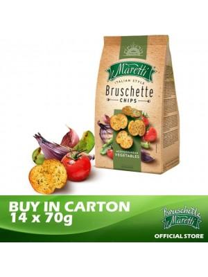 Bruschette Maretti Mediterranean Vegetables Flavour Baked Bread Snack 14 x 70g [Essential]