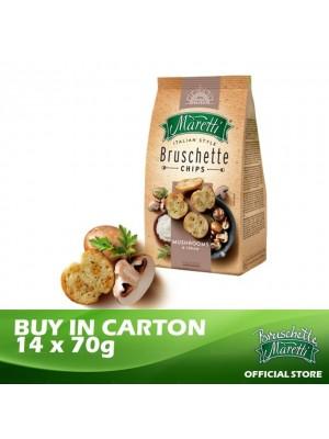 Bruschette Maretti Mushroom & Cream Flavour Baked Bread Snack 14 x 70g